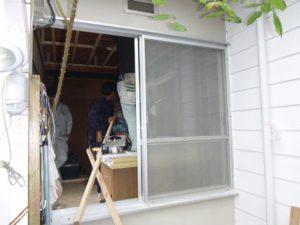施工前 中連窓